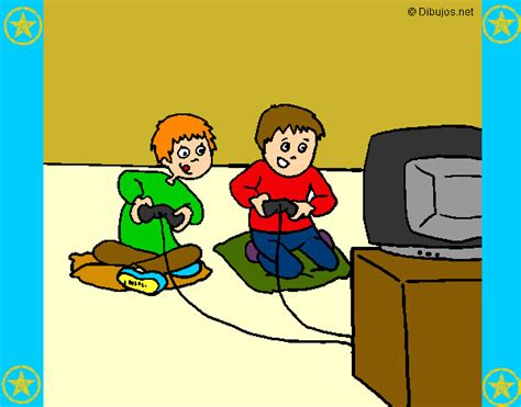 dibujos de niños jugando xbox dibujo de ni 241 os jugando pintado por wilf en dibujos net el