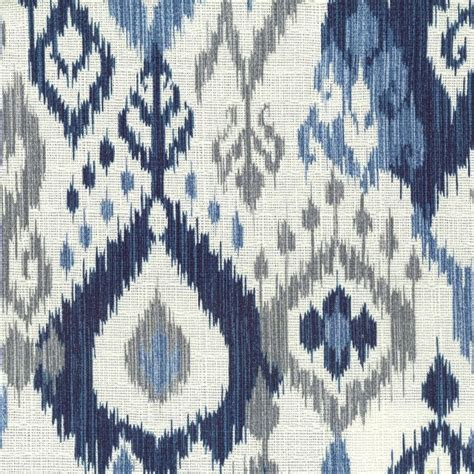 Navy ikat with light blue gray cream by stout swelter swel 1 fabric