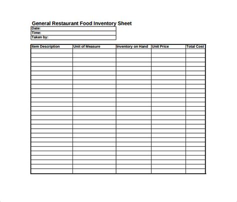 18 Free Spreadsheet Templates Free Sle Exle Format Download Free Premium Templates Printable Inventory Template