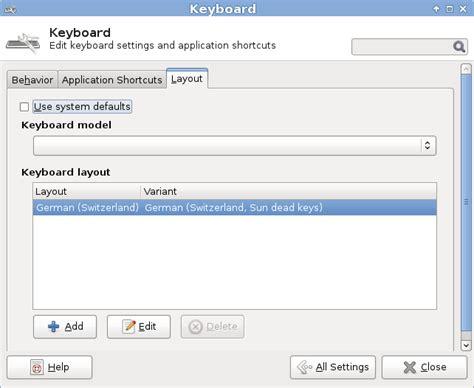 keyboard layout xfce xfce tastaturlayout umstellen ascii ch