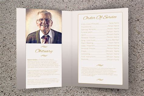 Printable Bi Fold Brochure Templates 79 Free Word Psd Pdf Eps Indesign Format Download Free Funeral Program Template Indesign