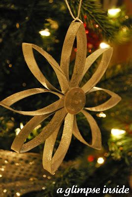 How To Make Handmade Hanging Ls - a glimpse inside cardboard snowflake ornament