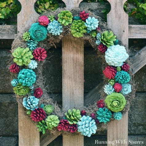 faux wreaths faux succulent wreath running with