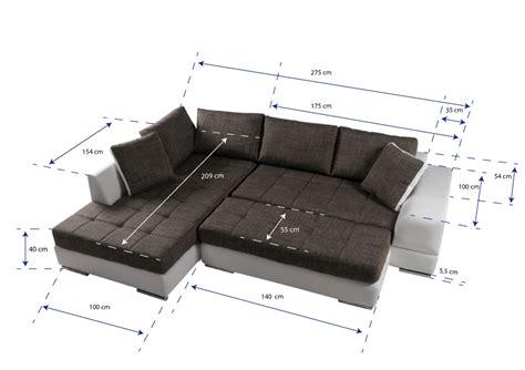 sofa ottomane links husam sofa kunstleder weiss webstoff grau ottomane rechts