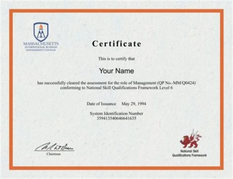 Certificate Of Studentship Global Engineer business management diploma outlet