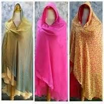 Jilbab Bolak Balik Size L 45 gamis muslimah almarsya khimar motif bolak balik
