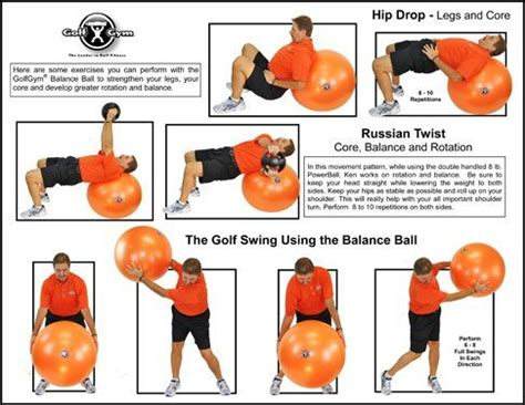 gym exercises for golf swing the golfgym fitness balance ball golfgym 174 llc
