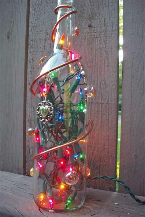 bing wine bottle crafts with lights trish likes