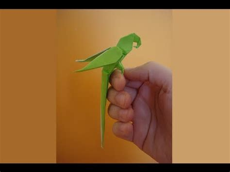 Origami Parakeet - origami parrot version