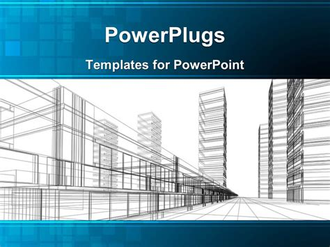 architectural templates powerpoint template an abstract architectural drawing of