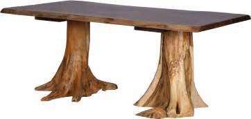 Stump table walnut top amish country furnishings a bismarck