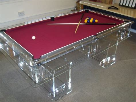 Unique Designer Transparent Acrylic Perspex Pool Table Ebay Unique Pool Tables