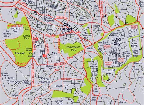 map of jerusalem maps of jerusalem