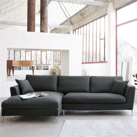 gray sectional sofa  chaise luxurious furniture