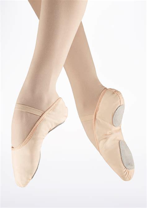 so danca split sole canvas ballet shoe pink move