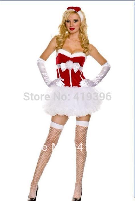 Dapatkan Special Dress Mrs White free shipping cl8014 princess snow dress white puff skirt mrs claus