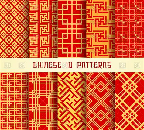 chinese pattern fabric vector chinese pattern vector