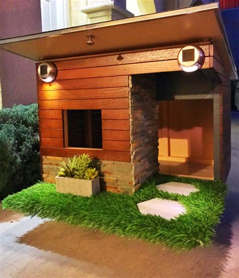modern dog house plans items similar to modern dog house on etsy