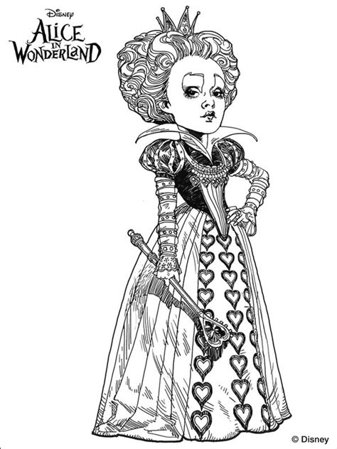 tim burton s alice in wonderland coloring page digis