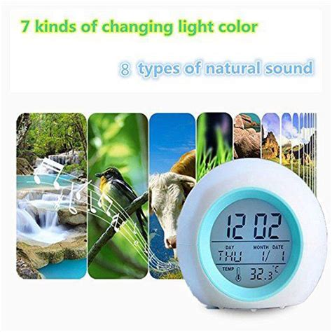 light simulator alarm clock egg shape up light alarm clock digital led
