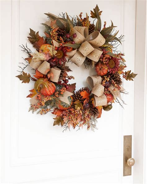 autumn harvest wreath garland and swag balsam hill uk