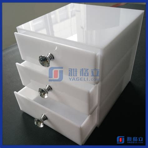 Cat Akrilik Hitam 2106 disesuaikan acrylic kotak untuk kosmetik kotak makeup