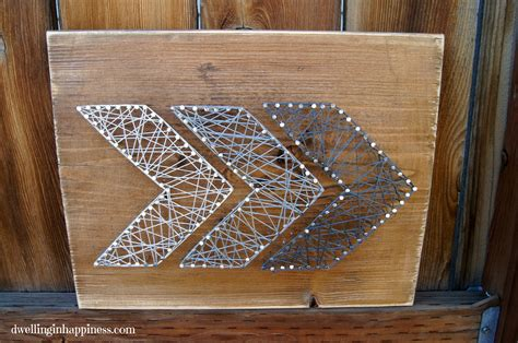 Easy String Designs - easy rustic arrow string dwelling in happiness