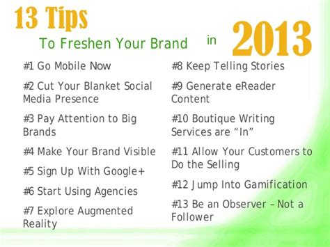 13 Tips On How To Glam Up 15 Minutes by 13 Tips To Freshen Your Brand For 2013