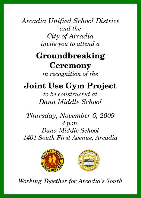 groundbreaking ceremony invitation templates exle of business groundbreaking invitations