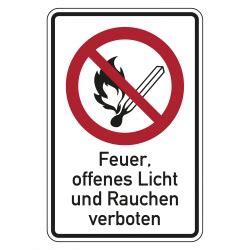 Kunststoff Aufkleber Bestellen by Verbotszeichen Quot Kein Feuer Offenes Licht Quot Kunststoff