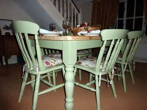 Painted Kitchen Furniture by Pine Farmhouse Kitchen Table With 6 Chairs Painted Vintage