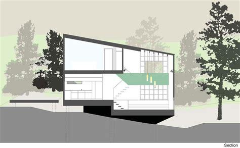 tall dark  handsome  split level home  auckland modern house designs