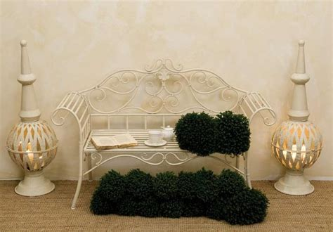 panchina in ferro battuto divanetto provenzale ferro bianco panchine ferro giardino