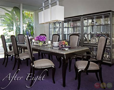 black onyx  piece formal dining room furniture set table chairs ebay