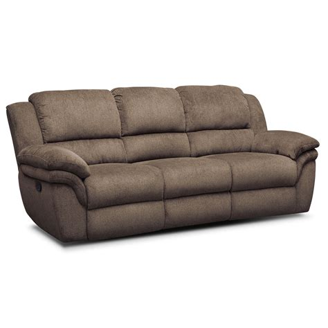Sofas Loveseats And Sectionals Aldo Manual Dual Reclining Sofa Loveseat And Recliner Set Mocha American Signature Furniture
