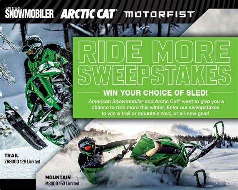 More Sweepstakes - arcticinsider arctic cat amsnow ride more sweepstakes