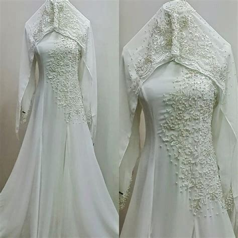Baju Pengantin Wedding Dress Clwd164 baju nikah dan veil nikah 2014 muslim wedding dress veils and