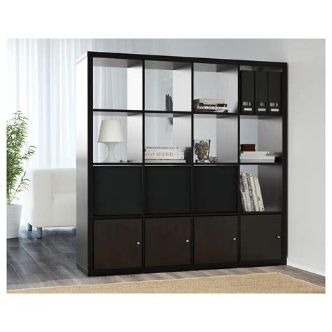 ikea gestell kallax kallax shelving unit black brown 147x147 cm ikea