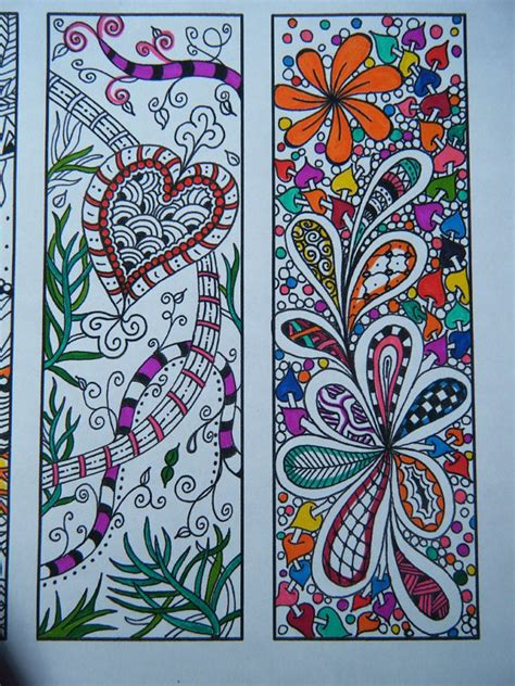 printable zentangle bookmarks digital bookmarks adult coloring page zentangle