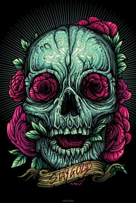 style skull art shared by doesy on we heart it