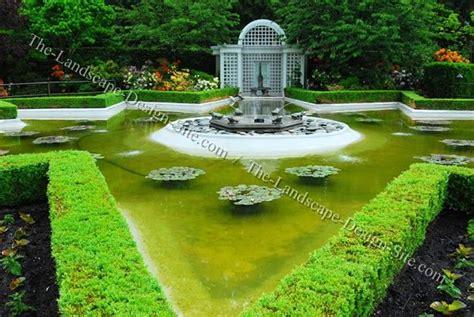 formal garden pond gardens pinterest