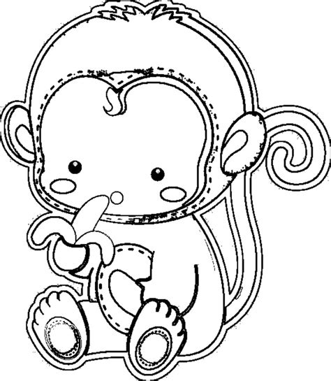 monkey coloring pages for toddlers coloring pages for kids