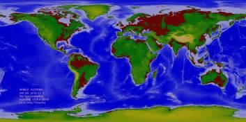 world flood maps 60m 100m rise in sea level