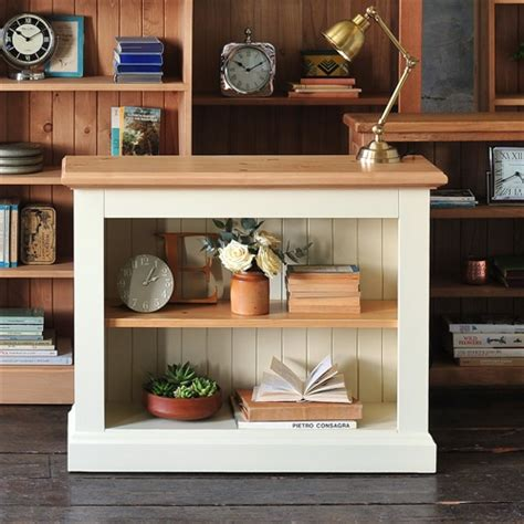 Short And Wide Bookshelf Wiltshire Painted Wide Bookcase W918 With Free