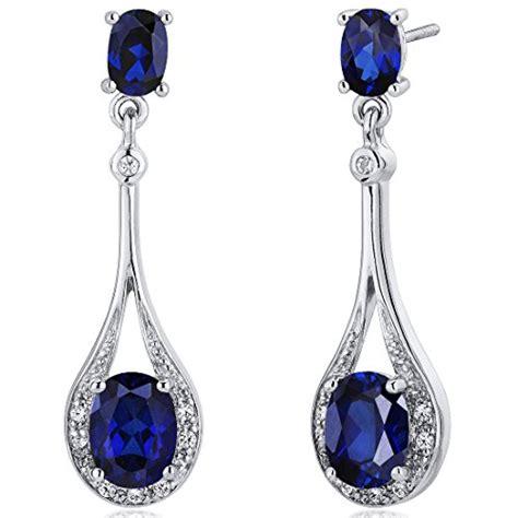 Bross Import Blue Teardrops Zircons Fashion created blue sapphire dangle earrings sterling silver 5 00 import it all