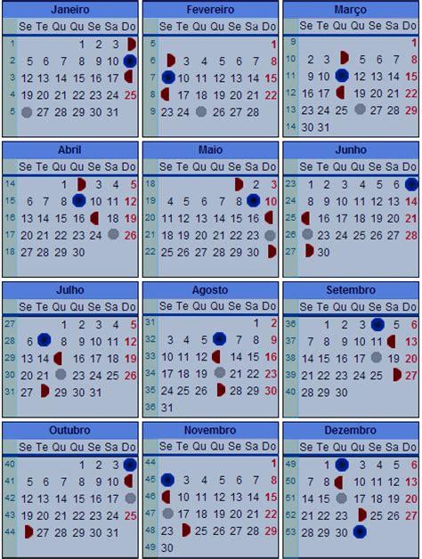 Calendario Fases Da Lua Calend 225 Lunar De 2009