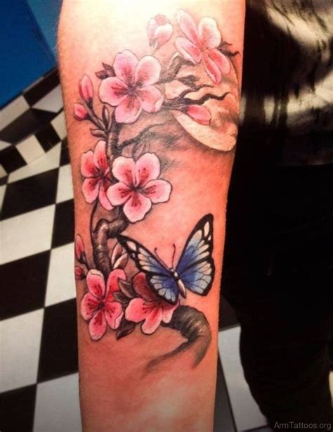 forearm flower tattoo 70 stunning butterfly tattoos on arm