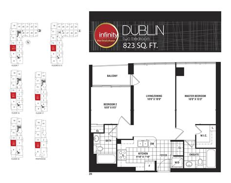 30 grand trunk floor plans dublin infinity condos at 19 30 grand trunk cres 25