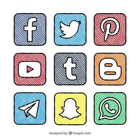 imagenes animadas para redes sociales colecci 243 n de cuadrados y logos de redes sociales pintados
