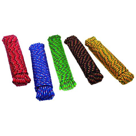 crown bolt 3 8 in x 50 ft assorted colors braid